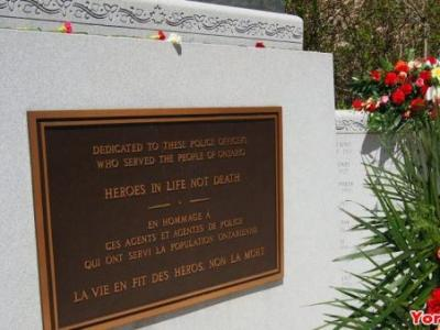 将在Queen's Park举行纪念仪式 缅怀因公殉职军官