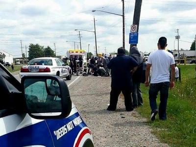 周五Pond Mills路发生车祸,10岁小孩生命垂危